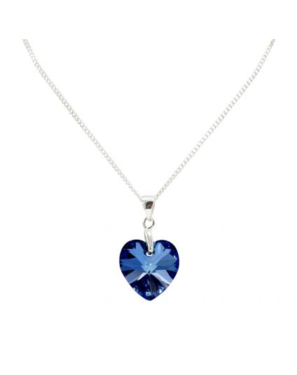 Classic Small Crystal Heart Necklace