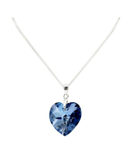 Classic Medium Crystal Heart Necklace
