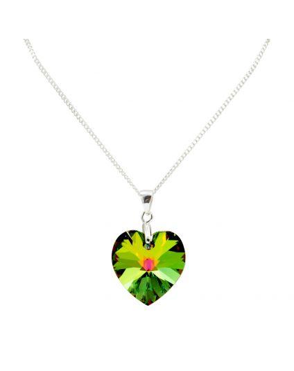 Classic Medium Crystal Heart Necklace