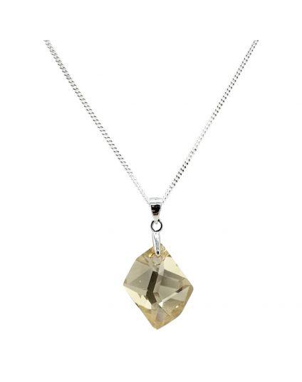 Medium Cosmic Rock Crystal Necklace