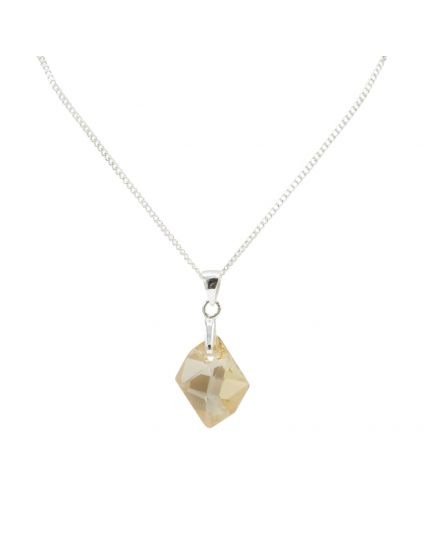 Small Cosmic Rock Crystal Necklace