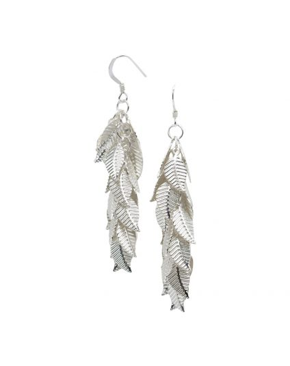 Super Long Leaf Cluster Earrings