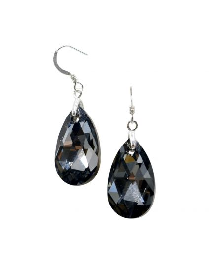 Classic Almond Shaped Crystal Earrings
