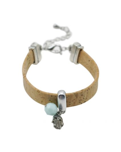 Natural Cork Charmed Bracelet