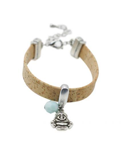 Natural Cork Charmed Bracelet