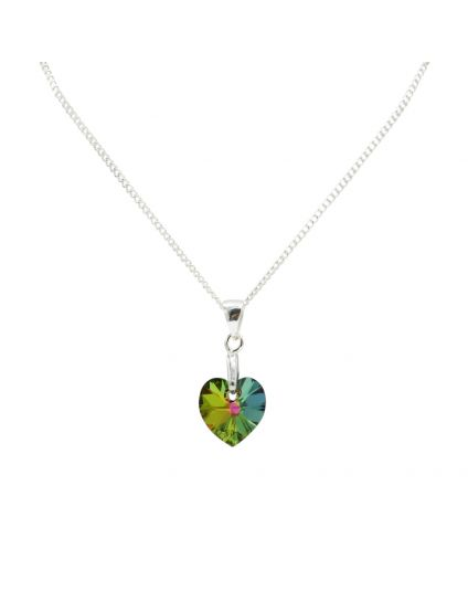 Classic Tiny Heart Crystal Necklace