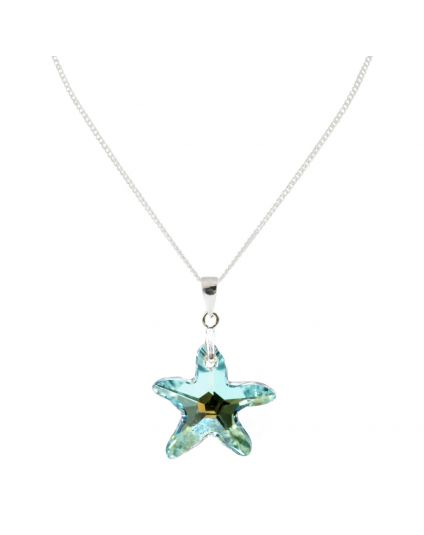 Medium Starfish Crystal Necklace