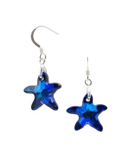Small Starfish Crystal Earrings