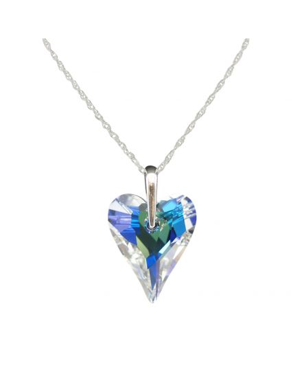 Large Wild Heart Crystal Necklace