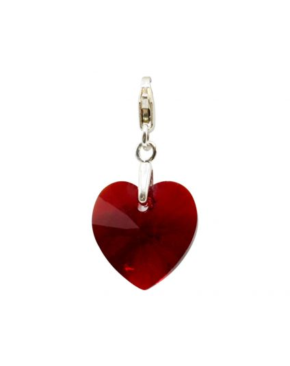 Classic Small Heart Crystal Add-On Charm