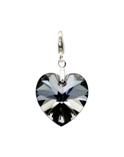 Classic Medium Heart Crystal Add-On Charm