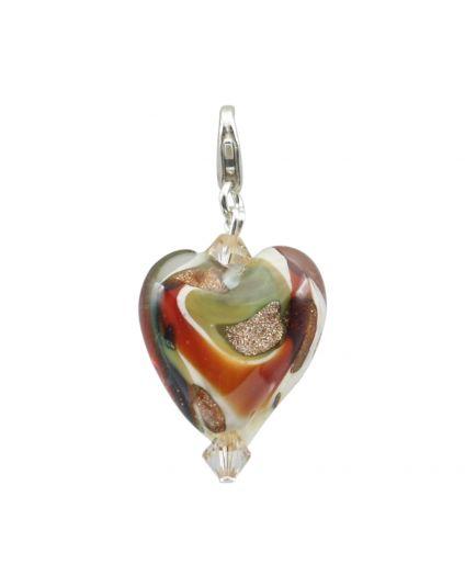 Murano Heart Add-On Charm