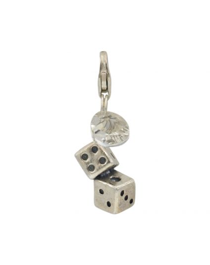 Sterling Silver Dice Add-On Charm