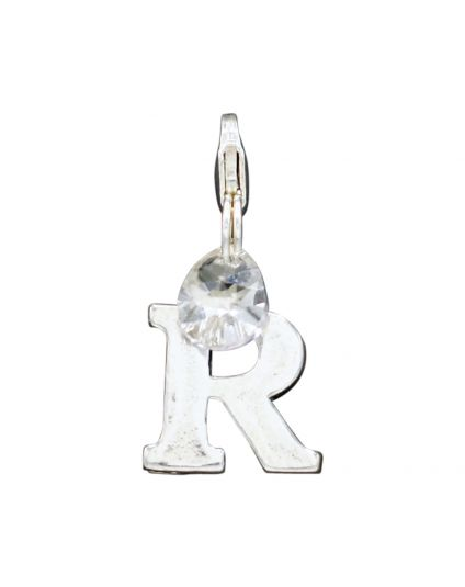 "Sterling Silver Letter ""R"" Add-On Charm"