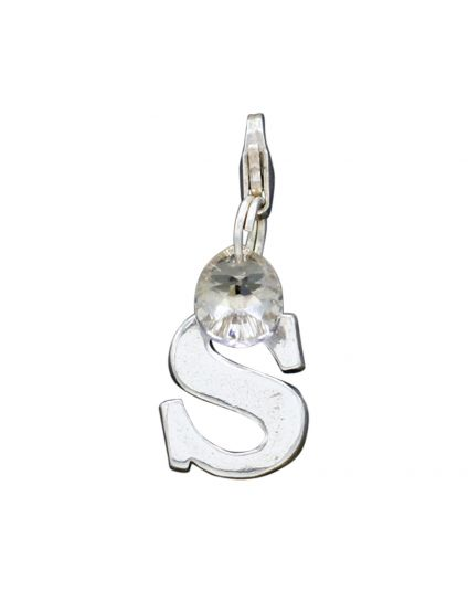 "Sterling Silver Letter ""S"" Add-On Charm"