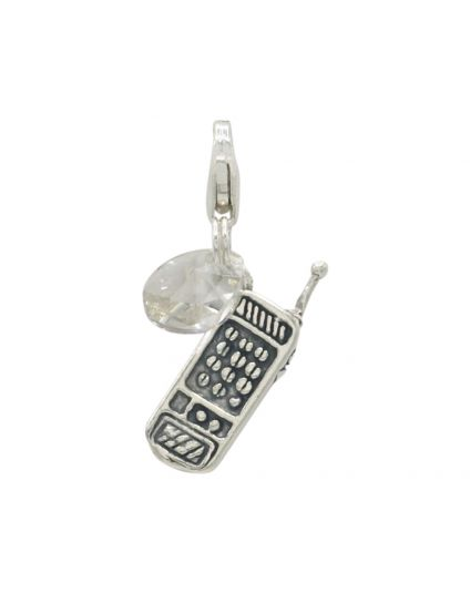 Sterling Silver Cellphone Add-On Charm