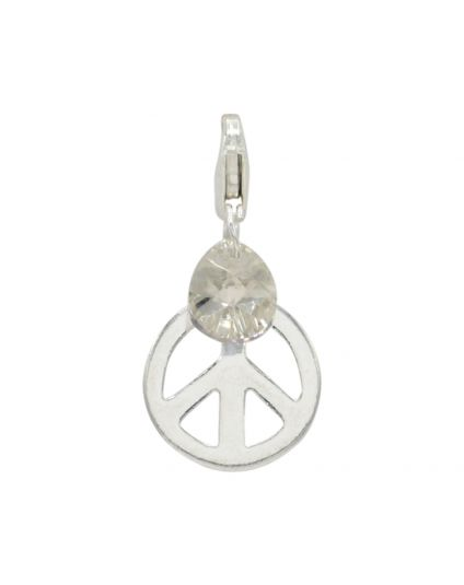 Sterling Silver Peace Sign Add-On Charm