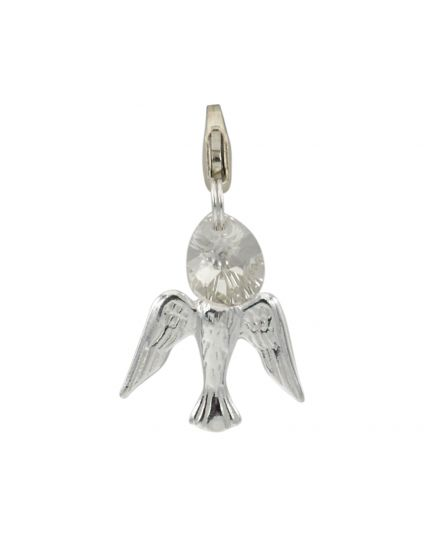 Sterling Silver Flat Dove Add-On Charm