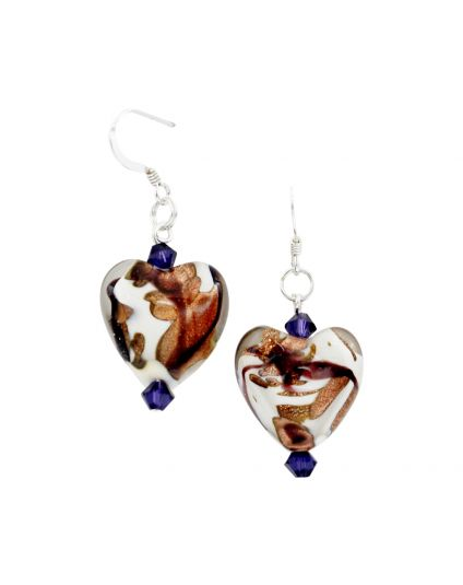 Murano Heart Earrings