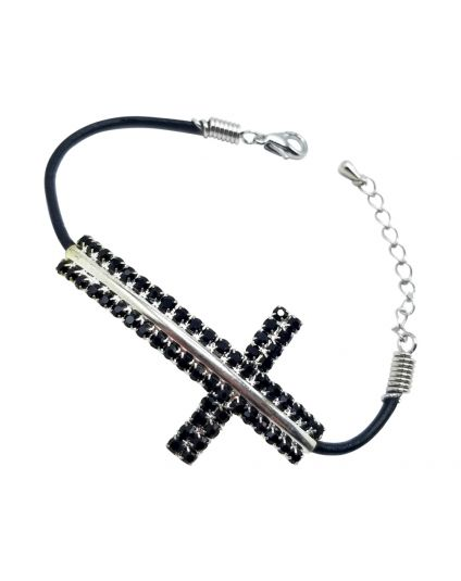 Large Side Cross Bracelet