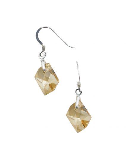 Small Cosmic Rock Crystal Earrings