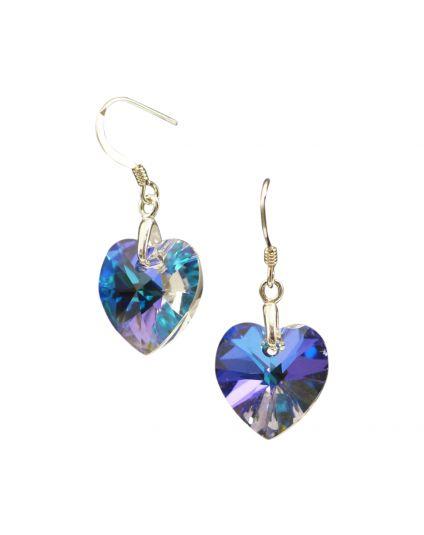 Classic Small Crystal Heart Earrings