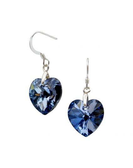 Classic Small Crystal Heart Earrings