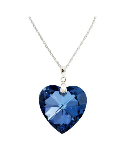 Classic Large Crystal Heart Necklace