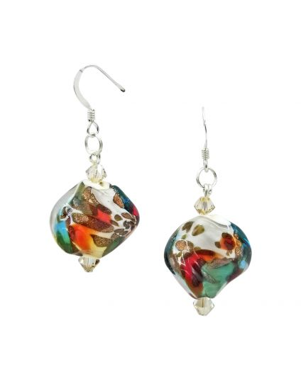 Murano Ocean Wave Earrings