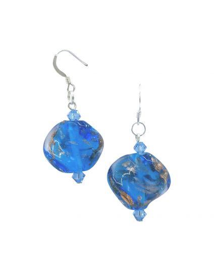 Murano Ocean Wave Earrings