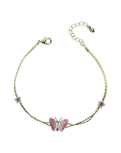 Tiny Butterfly Crystal Bracelet