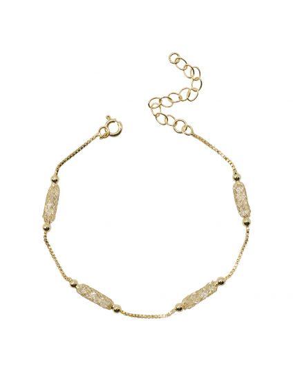 Delicate Gold Mesh Stardust Bracelet