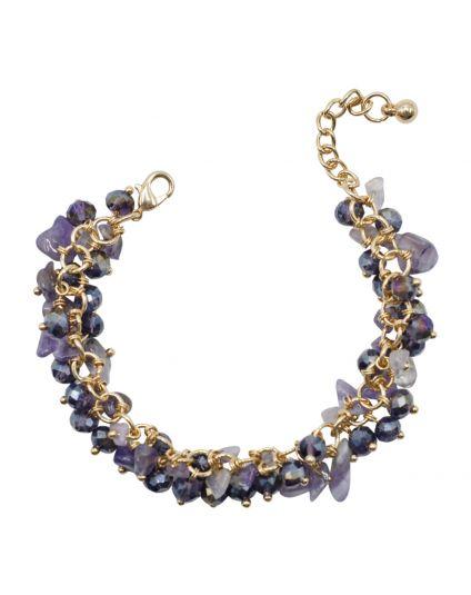 Stone Cluster Bracelet