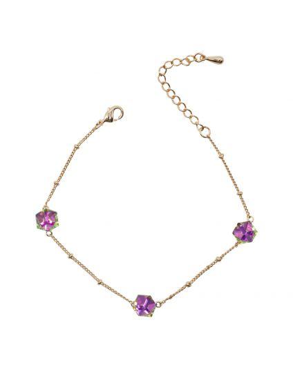 Rainbow Crystal Cube Bracelet