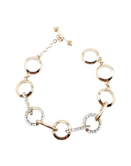 Elliptical Crystal Bracelet