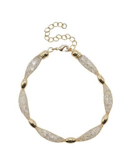 Crystal Mesh Pocket Bracelet