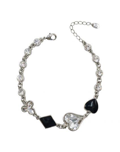 4 Suits Crystal Bracelets