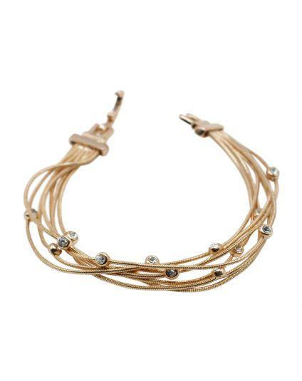 Multi Wire Crystal Bracelet