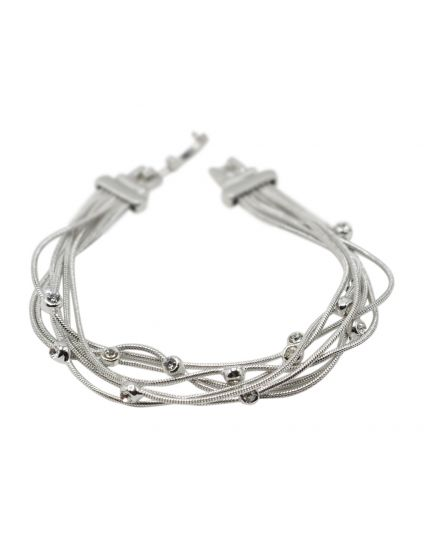 Multi Wire Crystal Bracelet