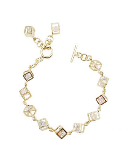 Multi Crystal Cube Bracelet
