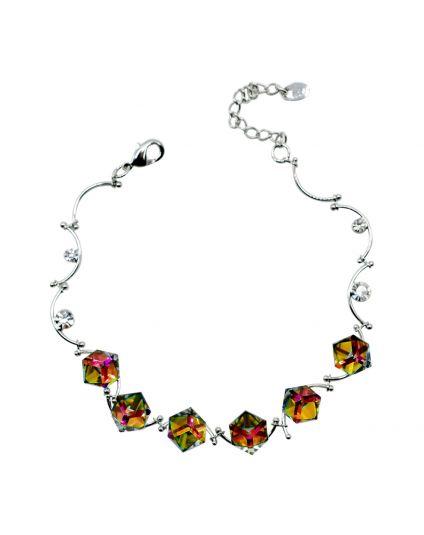 Crystal Cube Swivel Bracelet