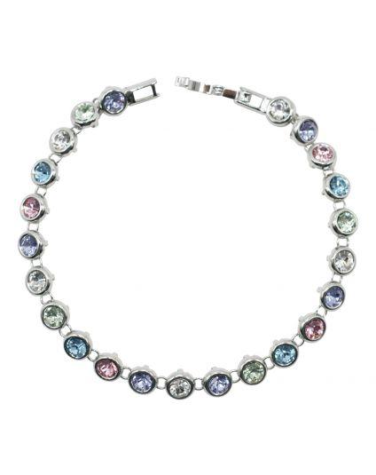 Multicolor Round Crystal Bracelet