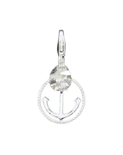 925 Round Anchor Add-On Charm