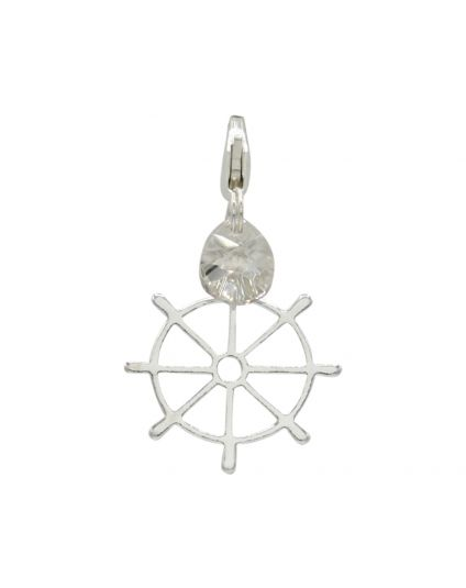 Sterling Silver Ships Helm Add-On Charm