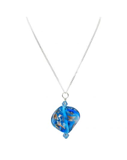 Ocean Wave Murano Necklace