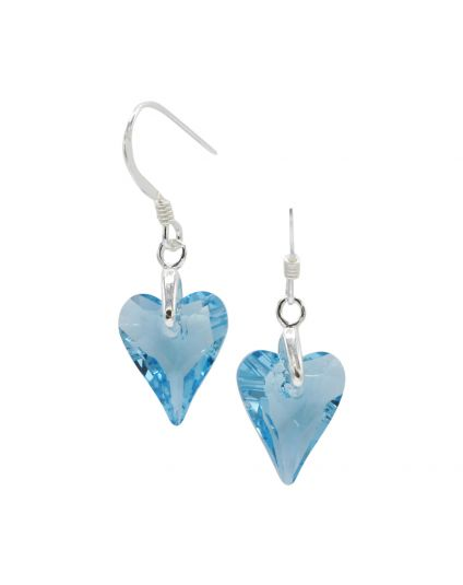 Tiny Wild Heart Crystal Earings