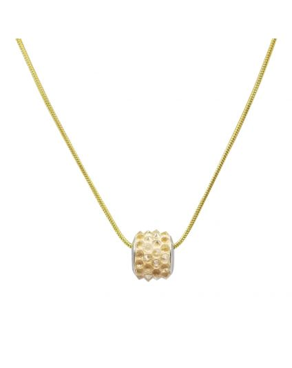 Stainless Steel Gold Snake Chain Necklace Only (35+ Slide On Bead Options)
