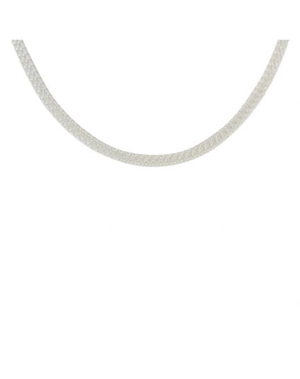Sterling Silver Hollow Mesh Necklace (Multiple Lengths Available)