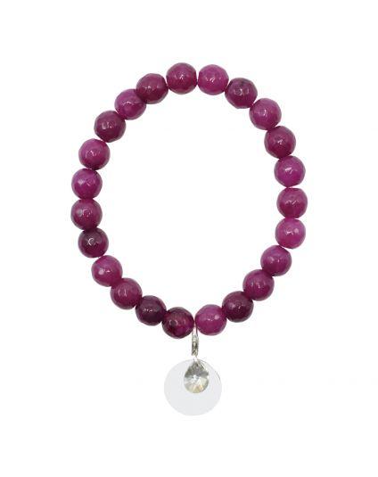 Jade - Fushia Stretch Bracelet