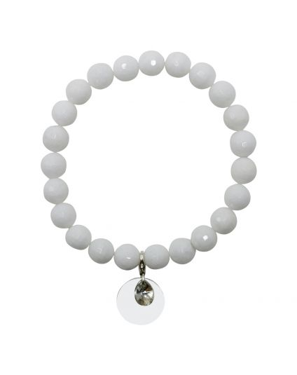 Jade - White Stretch Bracelet